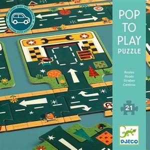 POP TO PLAY CARRETERAS PUZZLE 21 PIEZAS