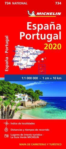 MAPA MICHELIN ESPAÑA 2020