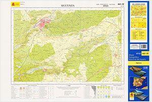MAPA TOPOGRÁFICO NACIONAL DE ESPAÑA 461-IV A 1:25.000 SIGÜENZA